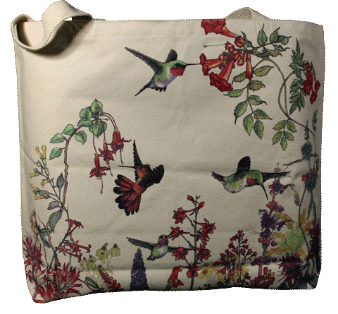 Hummer Garden Canvas Tote - Front