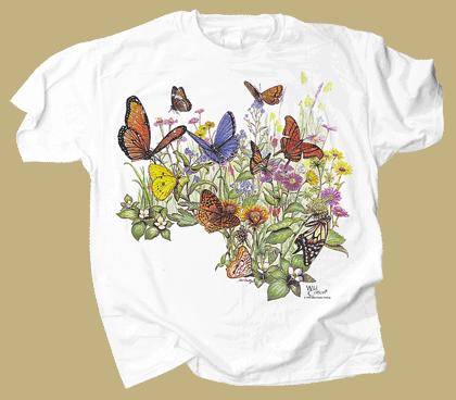 Butterfly Garden Adult T-shirt - Front