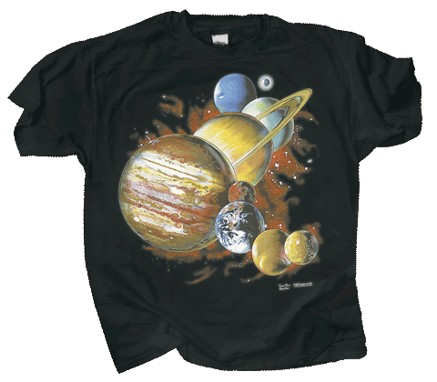 Planets Youth T-shirt - Front