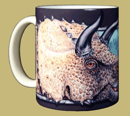 Triceratops Ceramic Mug - Front