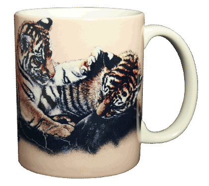 Tiger Cubs Ceramic Mug
