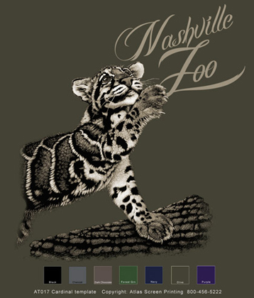 Clouded Leopard Custom Template - Olive