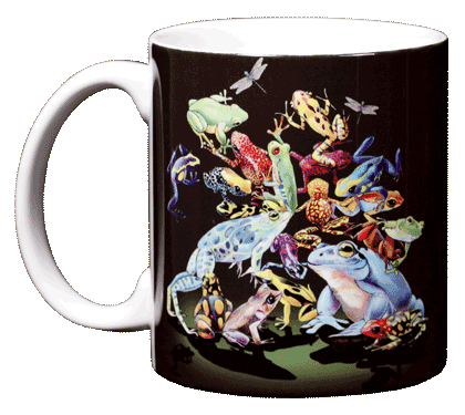 Rainforest Frogs Ceramic Mug - Front