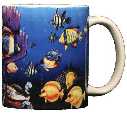 Fish Fiesta Ceramic Mug - Back