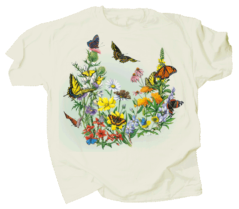 Butterflies of NA Adult T-shirt - Front