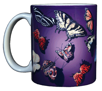 Butterfly Splash Ceramic Mug