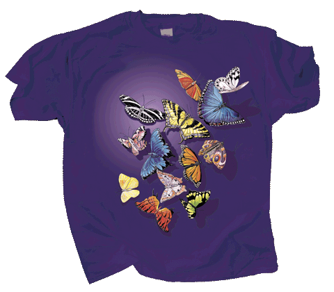 Butterfly Splash Adult T-shirt - Front