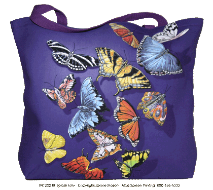 Butterfly Splash Canvas Tote