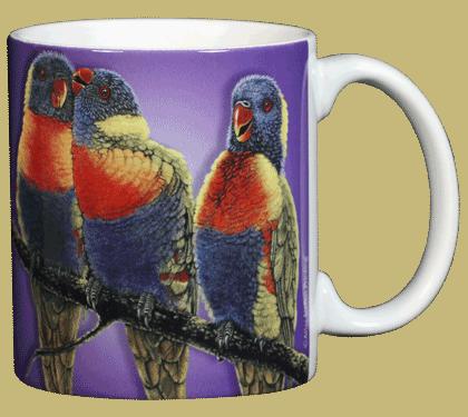 Lorikeets Ceramic Mug - Back