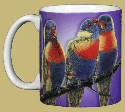 Lorikeets Ceramic Mug