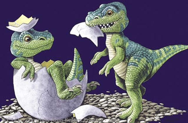 """T-Rex Babies 2"""" X 3"""" Magnet"""