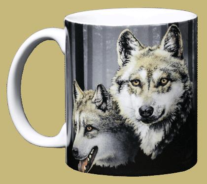 Wolves Ceramic Mug - Front
