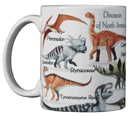 Dinosaurs of NA Ceramic Mug - Front