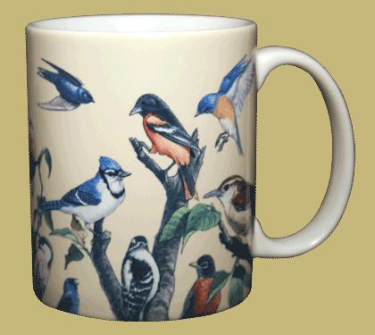 Garden Birds Ceramic Mug - Back