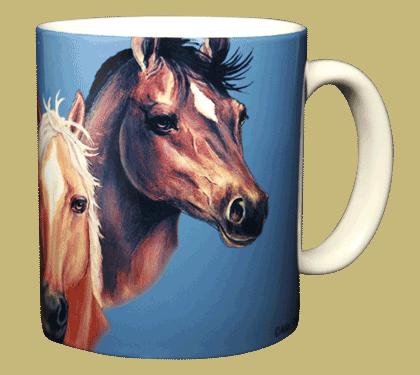 Horses Ceramic Mug - Back