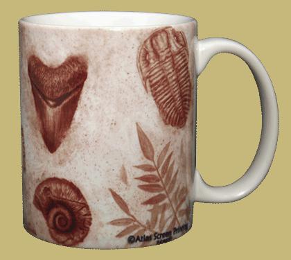 Fossils Ceramic Mug - Back