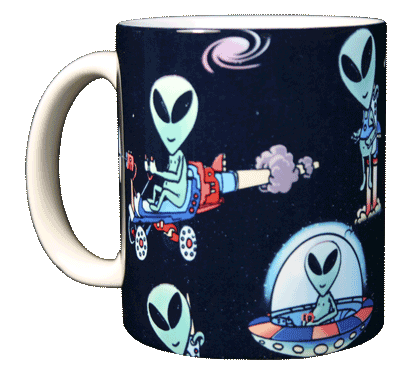Alien Wrap Ceramic Mug - Front