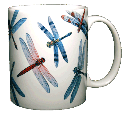 Dragonfly Glitter Ceramic Mug - Back