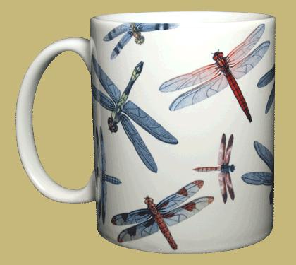 Dragonfly Wrap Ceramic Mug - Front