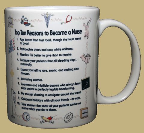 Top Ten Nurse Ceramic Mug - Back