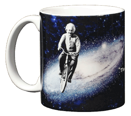 Einstein's Bicycle Ceramic Mug