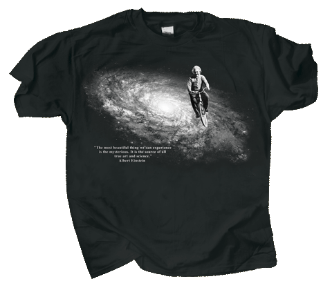 Einstein's Bicycle Adult T-shirt