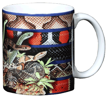 Snakezz Ceramic Mug - Back