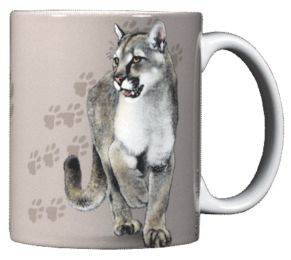 Cat Trax Ceramic Mug - Back