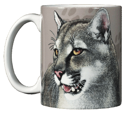 Cat Trax Ceramic Mug - Front