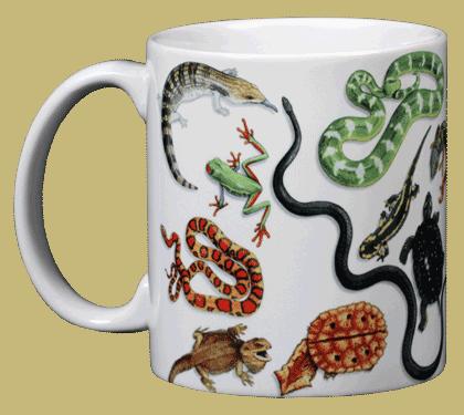 Herp Wrap Ceramic Mug - Front