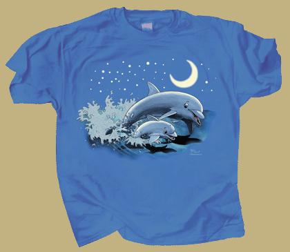 Dolphin Moon Youth T-shirt