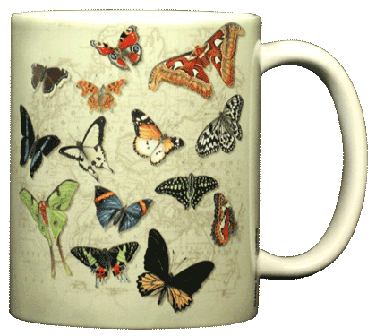 Butterflies of the World Ceramic Mug