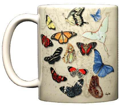Butterflies of the World Ceramic Mug