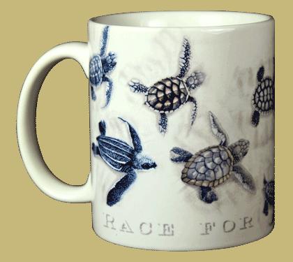 Race for Survival Ceramic Mug - Front
