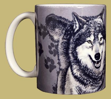 Wolf Trax Ceramic Mug - Front