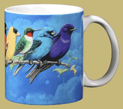 Songbird Spectrum Ceramic Mug - Back