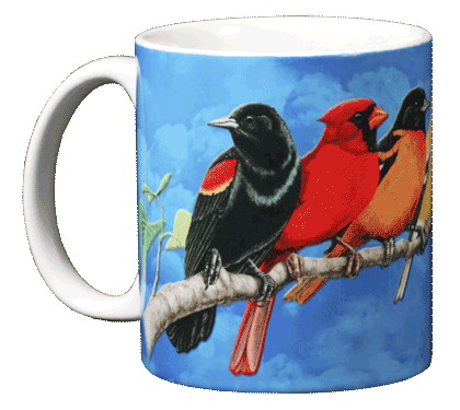 Songbird Spectrum Ceramic Mug - Front