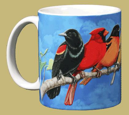 Songbird Spectrum Ceramic Mug - Front