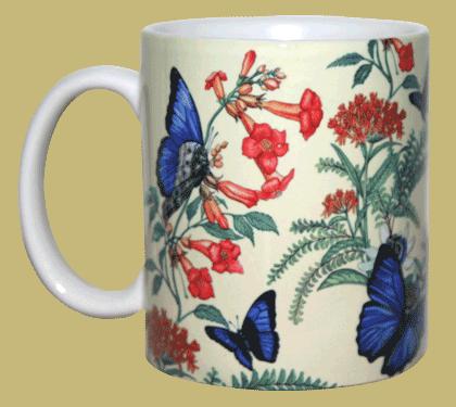 Morpho Garden Ceramic Mug - Front