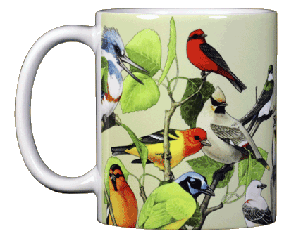 Back Country Birds Ceramic Mug - Front