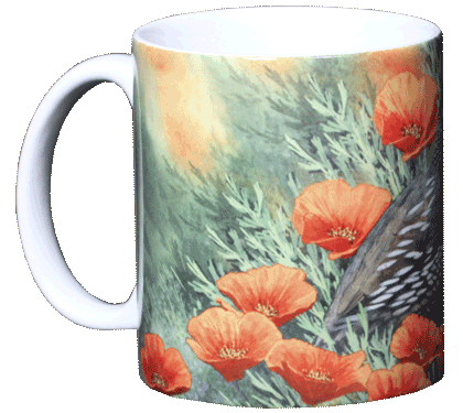 California Quail Ceramic Mug - Front