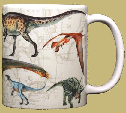 Dinosaurs OTW Ceramic Mug - Back