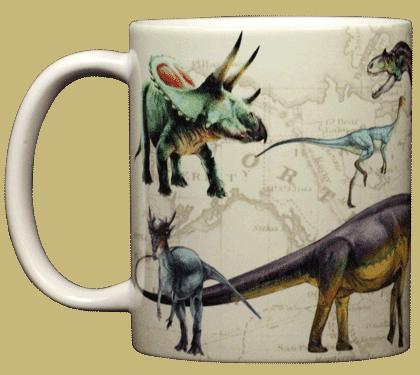 Dinosaurs OTW Ceramic Mug - Front