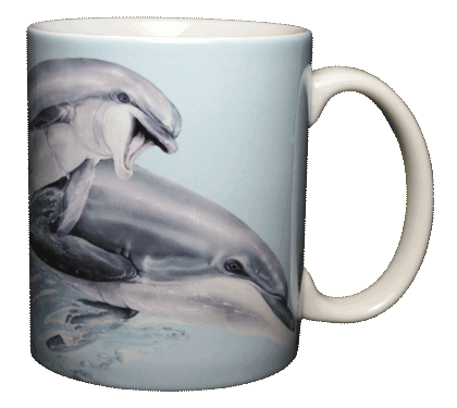 Leaping Dolphins Ceramic Mug - Back