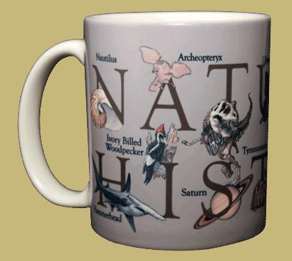 Natural History Ceramic Mug - Front