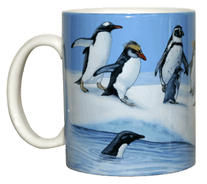 Penguins of the World Ceramic Mug - Front