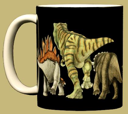 Dino Heads & Tails Ceramic Mug - Front