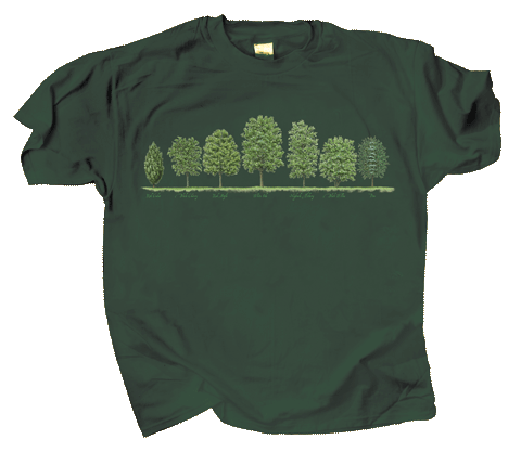 Trees Adult T-shirt - Front
