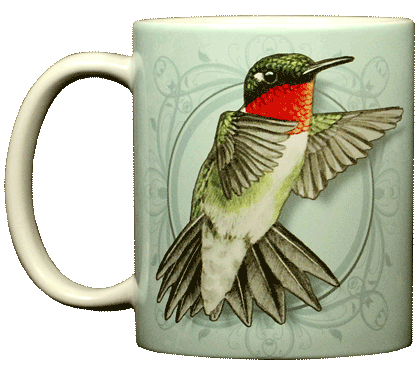 Ruby Throated Hummer Ceramic Mug
