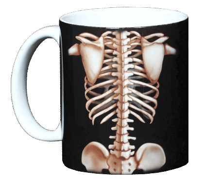 Skeleton Ceramic Mug - Front